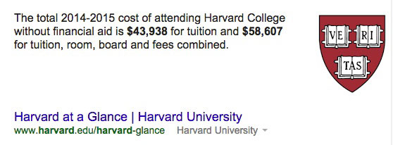 Harvard Tuition